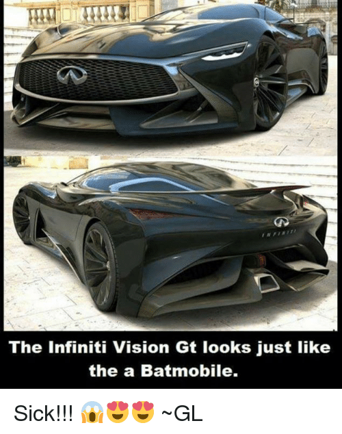 The Infiniti Vision Gt Looks Just Like the a Batmobile Sick ...