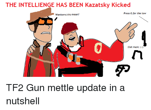 The INTELLIENGE HAS BEEN Kazatsky Kicked Press G for the Law