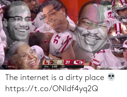 Football, Internet, and Nfl: The internet is a dirty place 💀 https://t.co/ONldf4yq2Q