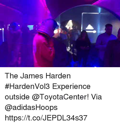 release date 37c33 723ca The James Harden HardenVol3 Experience outside ToyotaCenter! Via  adidasHoops https