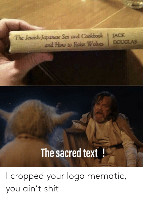 Sex, How To, and Text: The Jewish-Japanese Sex and Cookbook  and How to Raise Wohes  JACK  DOUGLAS  The sacred text ! I cropped your logo mematic, you ain't shit