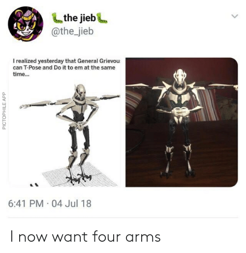 The Jieb Irealized Yesterday That General Grievou Can T-Pose