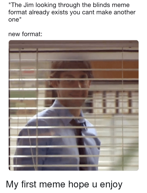 The Jim Looking Through The Blinds Meme Format Already Exists You