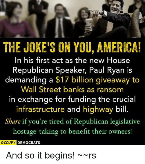 The <b>JOKE&#39;S</b> ON <b>YOU AMERICA</b>! In His First Act as the New House ...