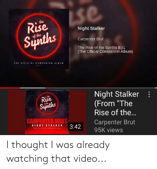 The Kise Night Stalker Carpenter Brut the Rise of the Synths
