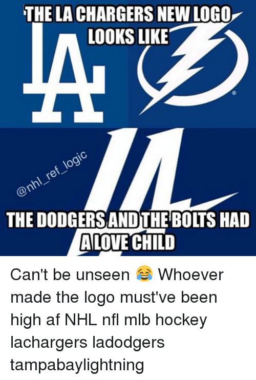 the lachargers newlogo looks like the dodgersandthe bolts had love 11798242 ✅ 25 best memes about nfl nfl memes