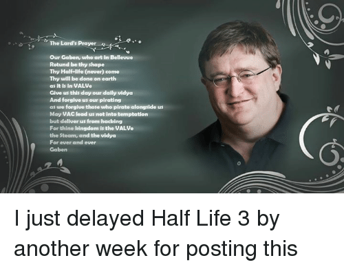 The Lards Prayer Our Gaben Who Art In Bellevue Rotund Be Thy Shape