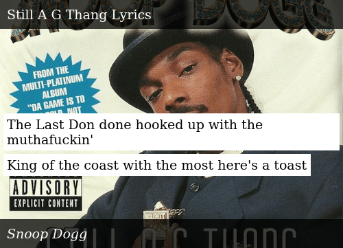 SIZZLE: The Last Don done hooked up with the muthafuckin'  King of the coast with the most here's a toast