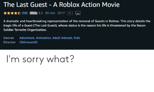The Last Guest Roblox Movie 3