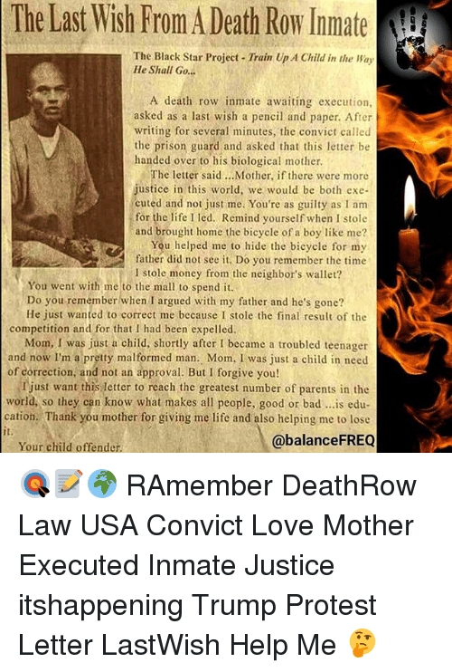 The Last Wish From a Death Row Inmate the Black Star ...