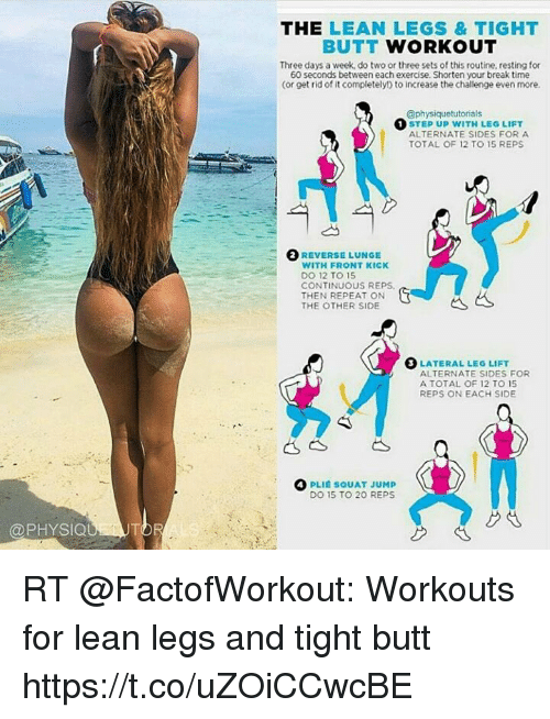 f2316605953 The LEAN LEGS TIGHT BUTT WORKOUT Three Days a Week Do Two or Three ...