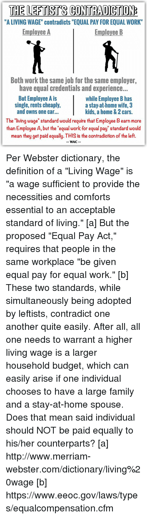 the leftsts contradiction a living wage contradicts equal pay for