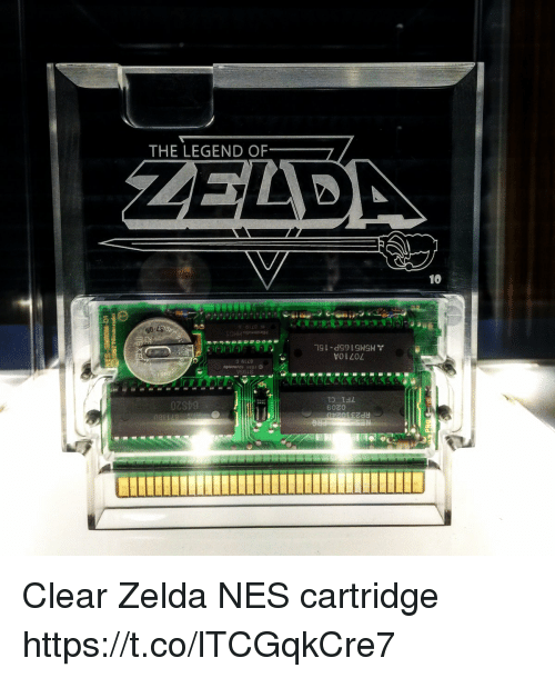 Zelda, Legend, and Nes: THE LEGEND OF  10  volLOL  o 6128  6020 Clear Zelda NES cartridge https://t.co/lTCGqkCre7