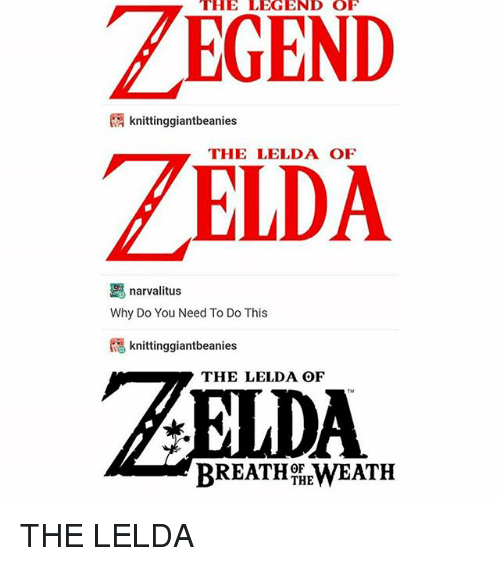 the legend of knittinggiantbeanies zelda narvalitus why do you need