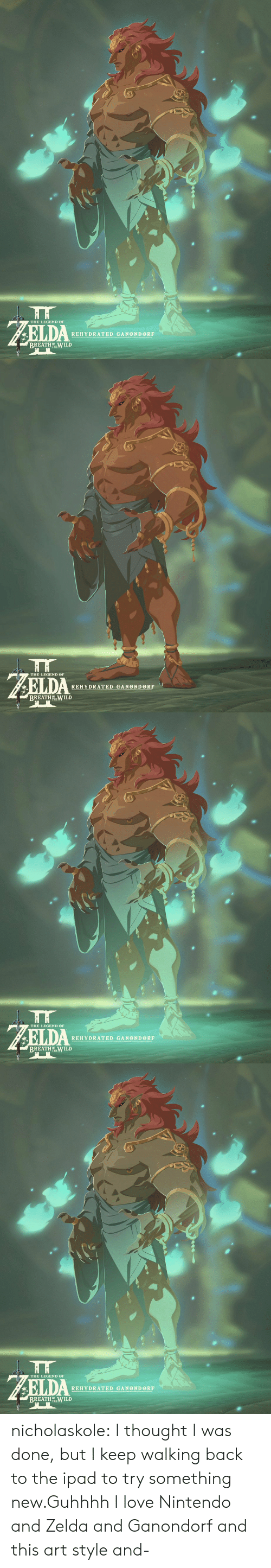 Ipad, Love, and Nintendo: THE LEGEND OF  REHYDRATED GANONDORF  BREATHOWILD   HH  THE LEGEND OF  REHYDRATED GANOND ORF  BREATH TEILD   THE LEGEND OF  REHYDRATED GANONDORF  BREATH OT WILD   THE LEGEND OF  REHYDRATED GANOND ORF  BREATH ILD nicholaskole:  I thought I was done, but I keep walking back to the ipad to try something new.Guhhhh I love Nintendo and Zelda and Ganondorf and this art style and-