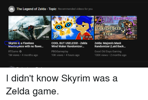The Legend of Zelda - Topic Recommended Videos for You