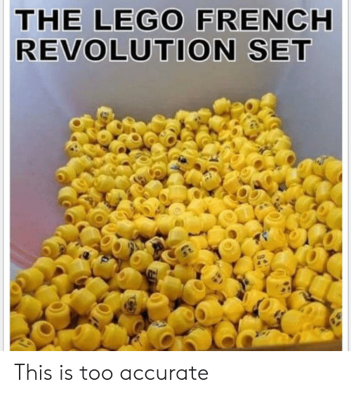 Lego, Reddit, and Revolution: THE LEGO FRENCH  REVOLUTION SET This is too accurate