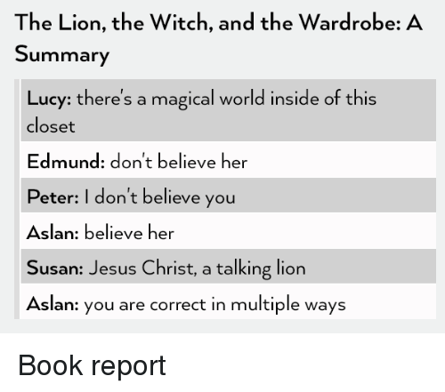 the lion the witch and the wardrobe a summary lucy there s a magical