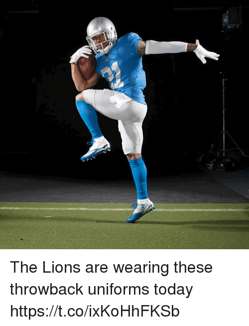 quality design 04451 e163d The Lions Are Wearing These Throwback Uniforms Today ...