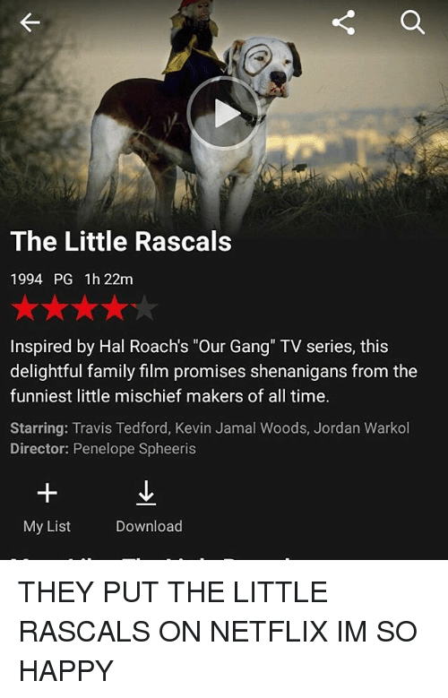The Little Rascals 1994 PG 1h 22m Inspired by Hal Roach's