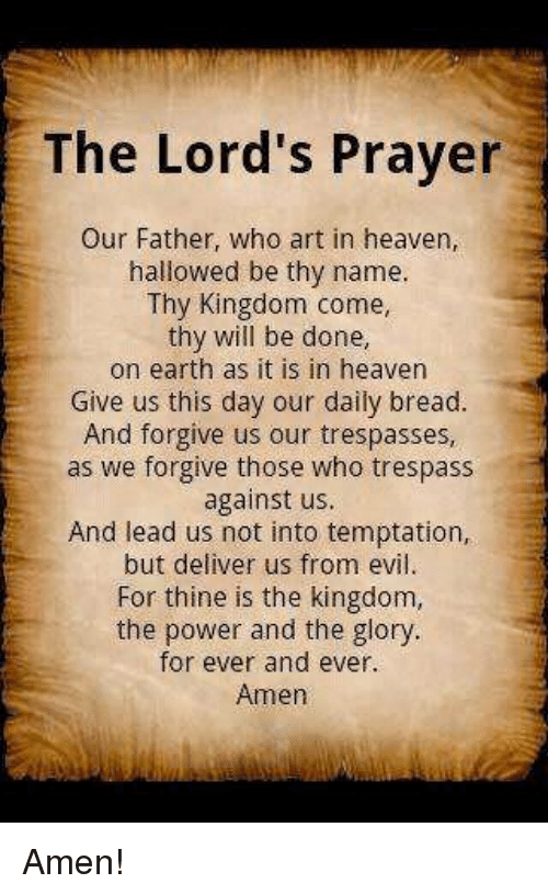 Image result for our father prayer