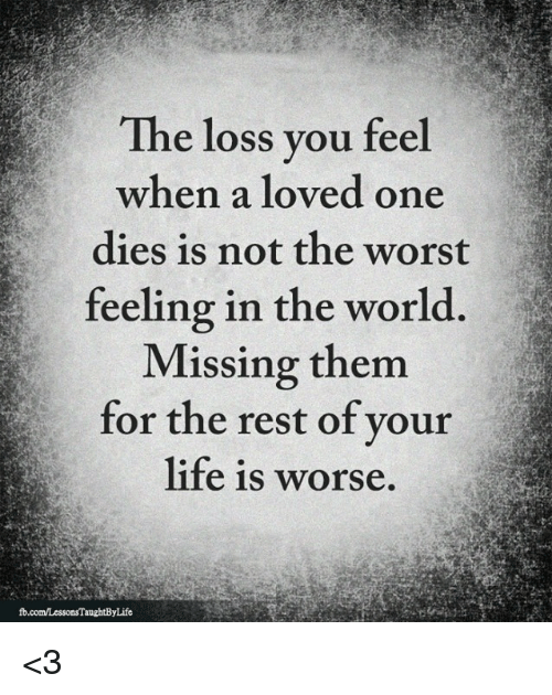 lessons learned from losing a loved one