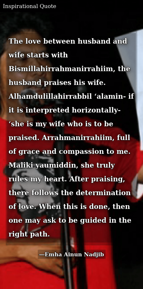 The Love Between Husband and Wife Starts With