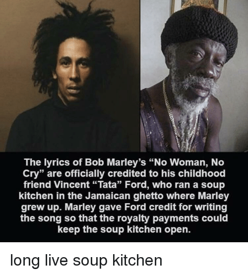 The Lyrics Of Bob Marleys No Woman No Cry Are Officially Credited