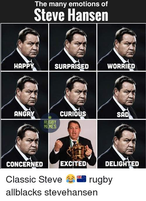 the many emotions of steve hansen happy surprised worried angry 28116886 the many emotions of steve hansen happy surprised worried angry