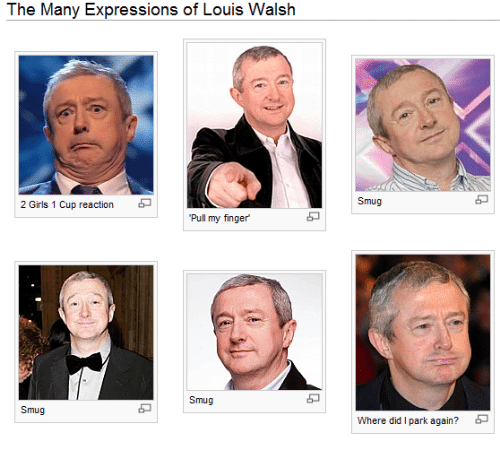 Girls Did And Park The Many Expressions Of Louis Walsh 2 1