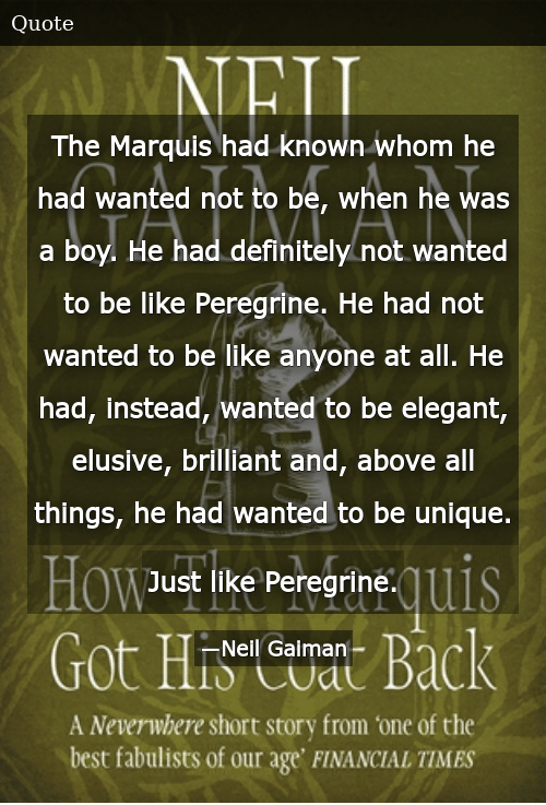 The Marquis Had Known Whom He Had Wanted Not to Be When He ...