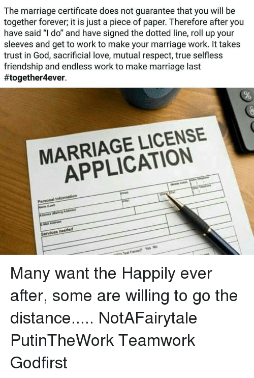 The Marriage Certificate Does Not Guarantee That You Will Be ...
