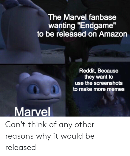 The Marvel Fanbase Wanting Endgame to Be Released on Amazon