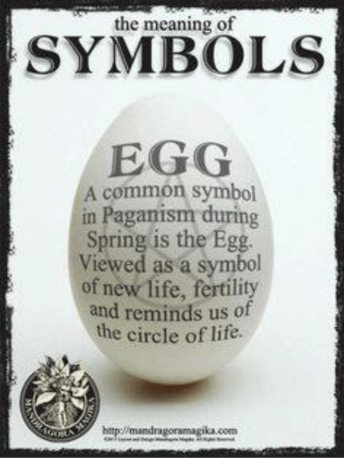 The Meaning Of Symbols Egg A Common Symbol In Paganism During Spring