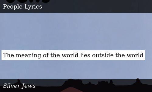 The Meaning of the World Lies Outside the World | Donald