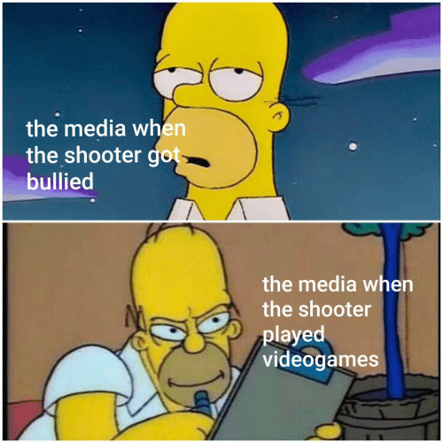 The Media When the Shooter Got Bullied the Media When the
