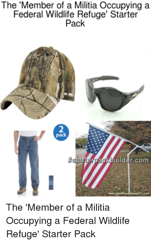 militia starter packs and starter pack the member of a militia occupying a