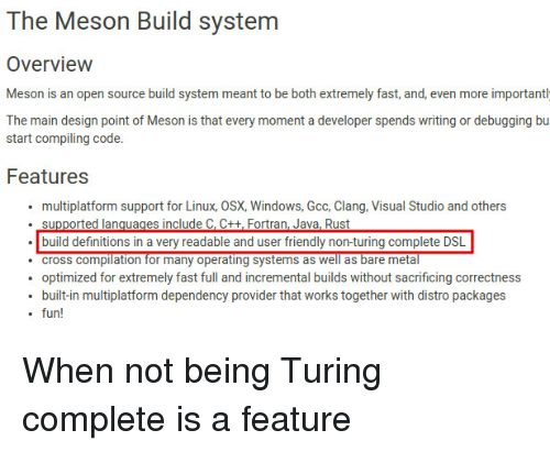 The Meson Build System Overview Meson Is an Open Source