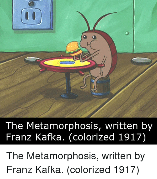 humor on the metamorphosis Who delivered a ten-minute speech on the subject at the 1998 symposium  metamorphosis: a new kafka, which later appeared in print in harper's magazine, where he acted as contributing editor he begins, by way of illustrating kafka's comedy, with the shorter-than-short 1920 story a little fable.