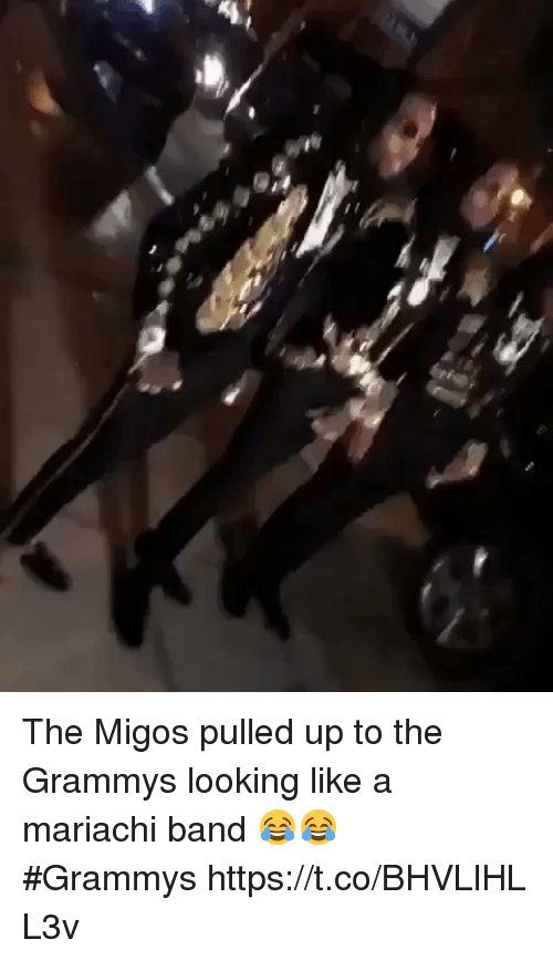 Blackpeopletwitter, Grammys, and Migos: The Migos pulled up to the Grammys looking like a mariachi band 😂😂 #Grammyshttps://t.co/BHVLlHLL3v