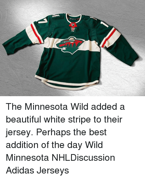 the latest cbc98 6dac6 The Minnesota Wild Added a Beautiful White Stripe to Their ...