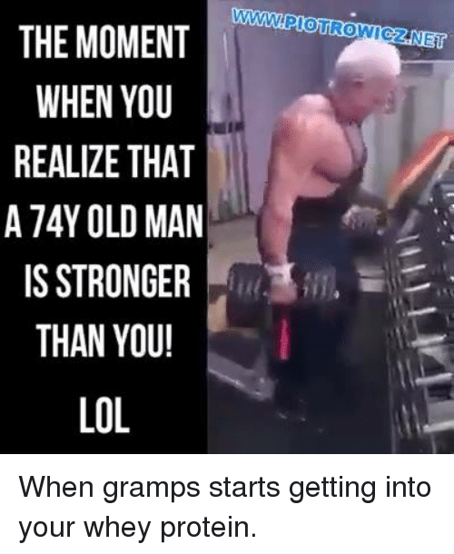 The MOMENT WHEN YOU REALIZE THAT a 74Y OLD MAN IS STRONGER