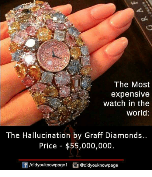 The Most Expensive Watch In The World The Hallucination By Graff