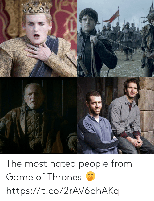 Game of Thrones, Memes, and Game: The most hated people from Game of Thrones 🤭 https://t.co/2rAV6phAKq