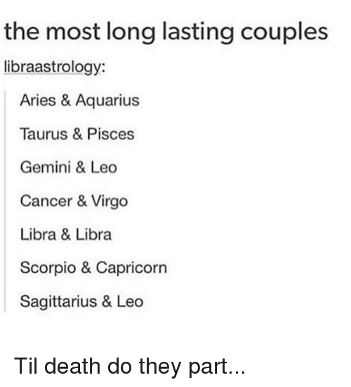 The Most Long Lasting Couples Libraastrology Aries