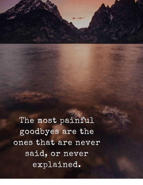 Never,  Said, and That: The most painful  goodbyes are the  ones that are never  said, or never  explained.