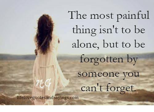 Pain of being alone