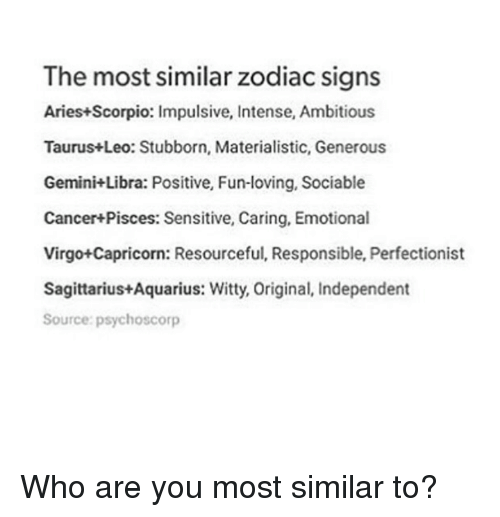 Aries zodiac scorpio signs and Aries and