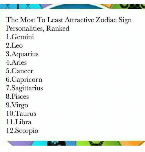 The Most to Least Attractive Zodiac Sign Personalities Ranked