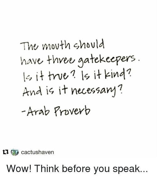 The Mouth Should Have Three Gatekeepers In And Is It Necessary Arab